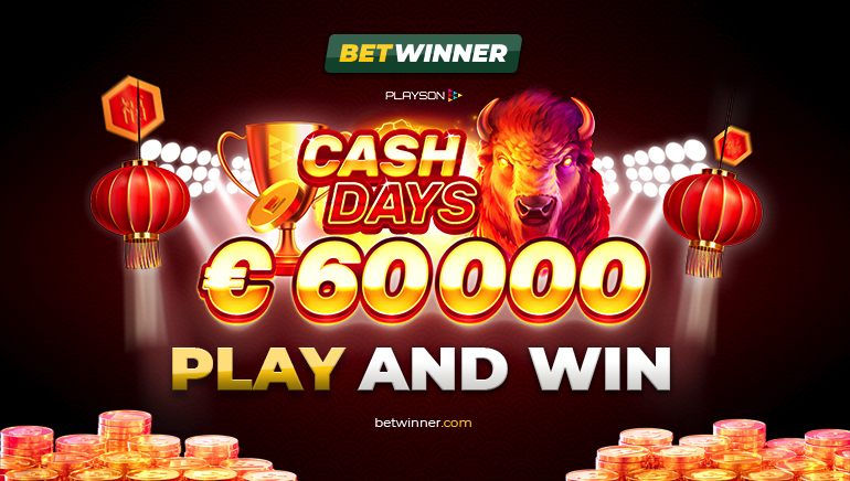€60k Cash Days ประจำเดือนกุมภาพันธ์กำลังจะมาถึงที่ Betwinner Casino