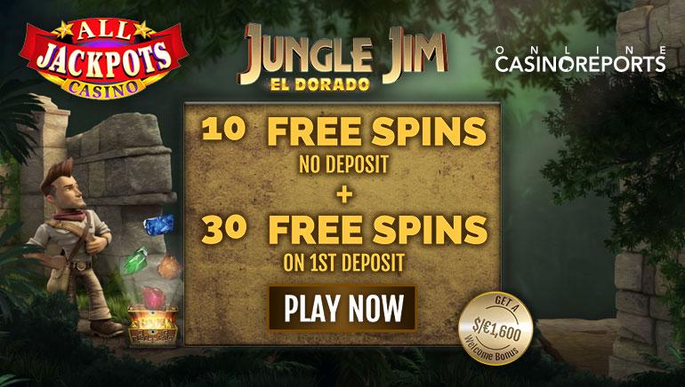 10 Exclusive Jungle Jim ไม่ต้องมีเงินฝาก หมุนฟรีเพื่อเริ่มเล่นที่ All Jackpots