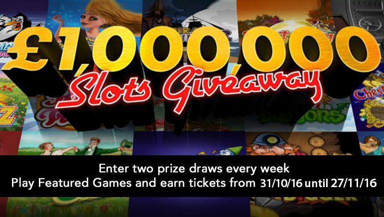 รับโชคจาก bet365 ด้วยเงินรางวัล £/$1,000,000 ในรายการ Slots Giveaway พฤศจิกายนนี้