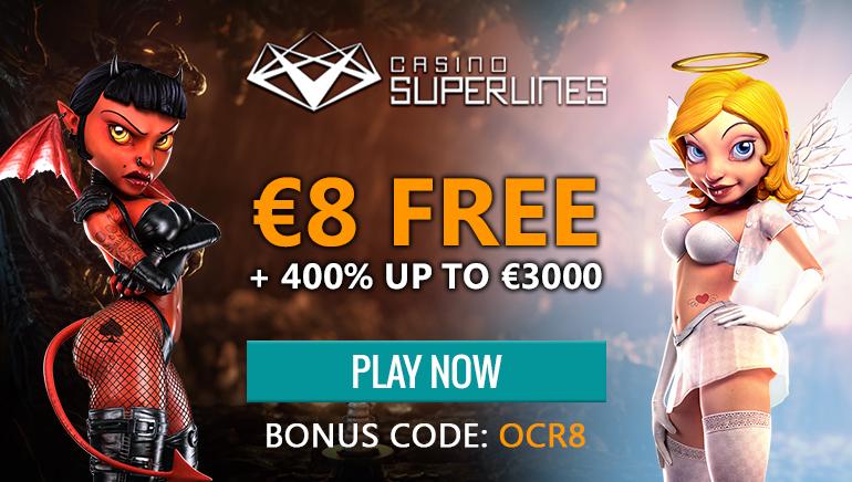เริ่มความสนุกที่ Casino Superlines พร้อมรับ €8 ฟรี